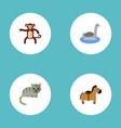 flat icons kitty waterbird pony and other vector image vector image