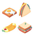 game icons set food for higher health level vector image vector image