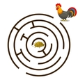Game labyrinth find a way rooster vector image vector image