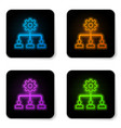 glowing neon lead management icon isolated on vector image