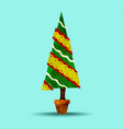 green holiday christmas tree plant vector image vector image
