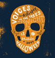 halloween lettering in skull silhouette vector image vector image