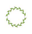 hand drawn vintage decorative laurel wreath vector image vector image