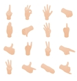 Hand set in isometric 3d style vector image vector image