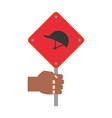 industrial security sign vector image