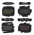 ink brush grunge frames for text vector image