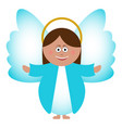 isolated angel icon vector image vector image