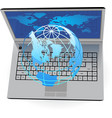Laptop and Globe vector image vector image