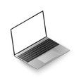 laptop isometric view realistic laptop with white vector image