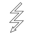 lightning icon black color flat style simple image vector image