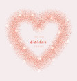 luxury pink gold glitter heart frame vector image