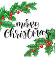 merry christmas holiday greeting card background vector image vector image