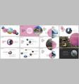 minimal presentations design portfolio vector image