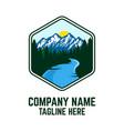 modern mountains logo vector image vector image