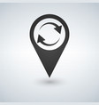 refresh map marker icon vector image