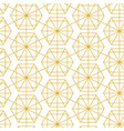 retro gold geometric seamless pattern vector image vector image