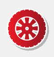 road tire sign new year reddish icon with vector image