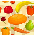 seamless pattern of fruits and vegetables vector image vector image