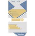 set of brochure cover design fancy info banner vector image
