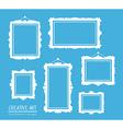 set of white rectangular frames on blue b vector image vector image
