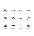 sound types cycle duotone icons on white vector image vector image