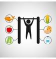 sport man gymnastics nutrition health vector image vector image