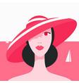 stylish beautiful model for fashion design art vector image vector image