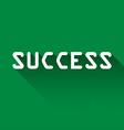 Success vector image vector image