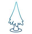 tree pine symbol vector image vector image
