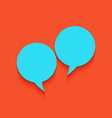 two speech bubble sign whitish icon on vector image vector image