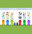 waste recycling trash recycle management garbage vector image