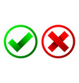 yes and no check marks vector image