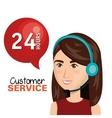 customer service agent working online vector image