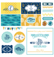 Nautical Sea Theme Set - for Party Decoration vector image