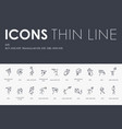 kite thin line icons vector image