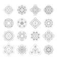 Magic Geometry Signs vector image