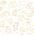 background cup teapots vector image