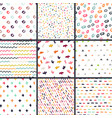hand drawn seamless pattern collection simple vector image
