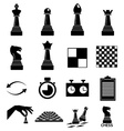 Chess icons set vector image