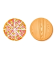 Pieces Of Pizza And The Board Composition vector image