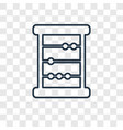abacus concept linear icon isolated on vector image vector image