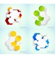 Abstract set backgrounds vector image vector image