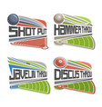athletics fields vector image vector image