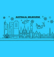 australia melbourne city winter holidays skyline vector image vector image