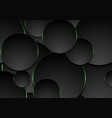 black and green circles abstract tech background vector image vector image