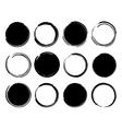 Black ink round frames vector image