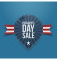 Blue Label with Presidents Day Sale Text vector image vector image