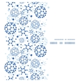 Blue molecules texture vertical frame seamless