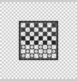 board game of checkers icon isolated vector image