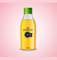 bottle of orange juice realistic product vector image vector image